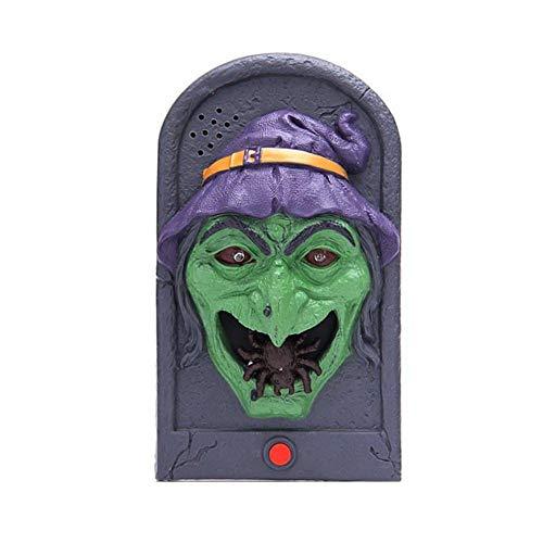 Haunted Props - Halloween dekorative LED-Licht Türklingel mit gruseligen