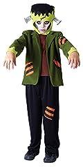 Idea Regalo - Bristol Novelty CC768 - Costume da mostro di Frankenstein, per bambino, taglia M (5-7 anni), 122-134 cm, colore nero