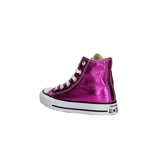 Converse 755556C CT AS HI Canvas, sneaker alta Bambina, METALLIC MAGENTA (fucsia) Fuxia