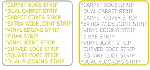 Sweet House Bois, Moquette, vinyle, carrelage et sol stratifié Bordure en métal doré/argenté, doré, ANY 5 (LEAVE NOTE ON CHECKOUT)