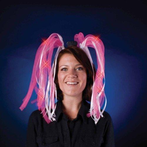 Light Show Dreads Costume LED Headband: Pink