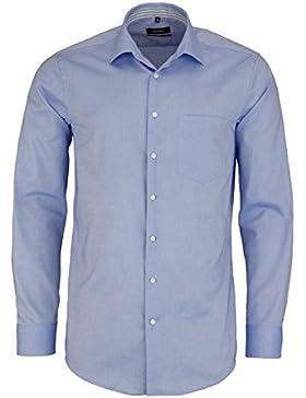 SEIDENSTICKER Modern Hemd Langarm New Kent Kragen Oxford mittelblau