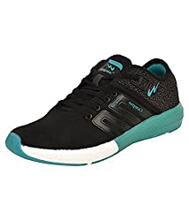 Campus Mens Black and T. Blue Running Shoes (Battle 3G-478) (10 UK)