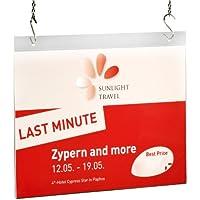 Sigel TA241 Plakattasche, Sichttasche, für DIN A4 quer, mit 2 Lochbohrungen, Acryl glasklar - weitere Größen
