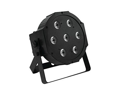 Eurolite LED SLS-7 QCL 7x10W Floor | Flacher Scheinwerfer mit 7 x 10-W-4in1-LED mit RGBW-Farbmischung | DMX | Eingebautes Mikrofon | Durchschleifbar | Master/Slave