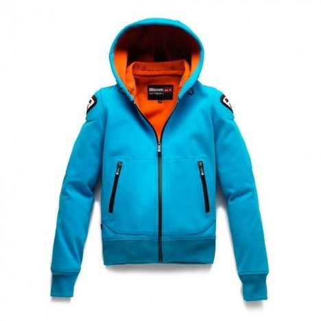 Preisvergleich Produktbild Jacke Moto blauer Easy Woman 1.1 Kapuzenpullover Blau Türkis