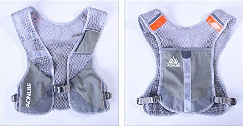 Imagen de aonijie  chaleco y  de hidratación ligero, para actividades al aire libre, senderismo, maratón, escalada, ciclismo, con 2 botellas de 250 ml , gris alternativa