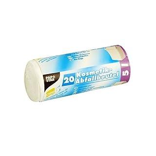 100 Kosmetik-Müllbeutel LDPE 5 l 44 cm x 36 cm weiss 12086 Papstar Abfallbeutel Müllbeutel
