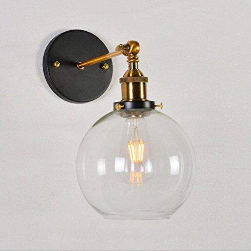 Modern LED Wandleuchte.Restaurant lampe loft schmiedeeisen bar tisch wohnzimmer spiegel scheinwerfer bekleidungsgeschäft ball glas lampenschirm wandleuchte, bernstein lampenschirm, durchmesser 15 cm -