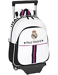Safta - Mochila infantil con ruedas Real Madrid, 27 x 33 x 10 cm (611457020)