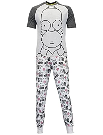 simpson ensembles de pyjama homer simpson homme v tements et accessoires. Black Bedroom Furniture Sets. Home Design Ideas
