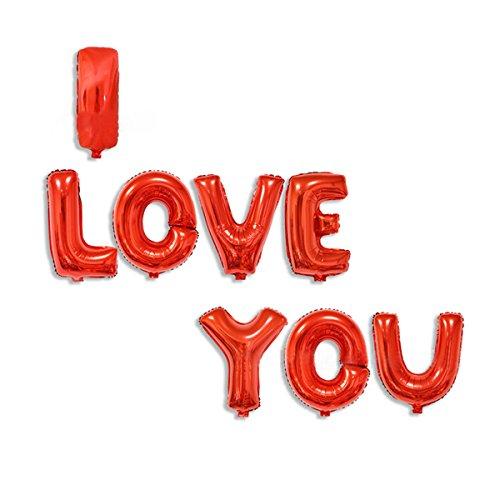 Cadillaps Buchstaben Ballons HAPPY BIRTHDAY Oder I LOVE YOU Folienballon Geburstag Dekoration Für Party (Buchstaben-ballons Valentinstag)