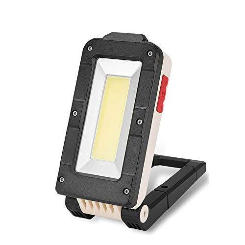 Luce Di Lavoro D'Emergenza per Auto, Torcia Multifunzione a Luce Di Ispezione Pieghevole Cob, Luce Di Riparazione Ricarica Usb con Indicatore Luminoso,Come mostrato,12 × 5