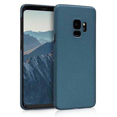 kwmobile Samsung Galaxy S9 Hülle - Handyhülle für Samsung Galaxy S9 - Metallic Petrol - Anti-Rutsch Grip Handy Case Cover