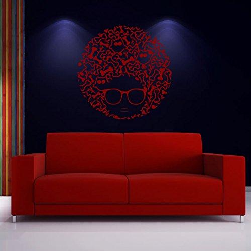 Gufo e Bone disegno astratto Uccelli e piume Wall Stickers Home Decor arte della decalcomania disponibile in 5 dimensioni e 25 colori Extra Grande Bianco - Bone Disegno