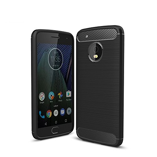 STARZ TM Motorola Moto G5 PLUS Cover Case for Moto G5 PLUS,Metallic Black
