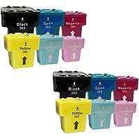 Prestige Cartridge HP 363 Cartucce d'Inchiostro Compatibile per Stampanti HP Photosmart Serie, 12 Pezzi, Multicolore