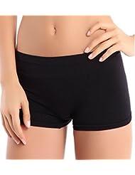 Pantalones cortos pantalones de la yoga, Internet Las nuevas mujeres Deportes entrenamiento de la gimnasia de la pretina de los pantalones flacos (Negro)