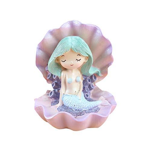 TOPofly Kuchen Topper aus Harz Märchen Meerjungfrau Figur Desktop Deko Statue 8,4 * 7,5 * 9,3 cm Grün Haare 1 Stück (Meerjungfrau-dekor Kleine Die)