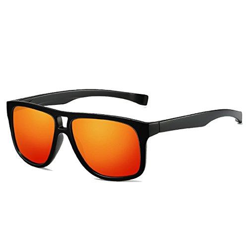 QQBL Allgemeine TAC Für Männer und Frauen Polarisierte PC Sport UV400 Sonnenbrille,Red