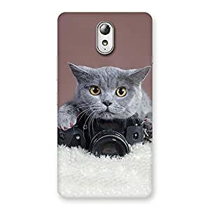 Delighted Kitty Photographer Multicolor Back Case Cover for Lenovo Vibe P1M