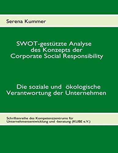 SWOT-gestützte Analyse des Konzepts der Corporate Social Responsibility: Die soziale und ökologische Verantwortung der Unternehmen