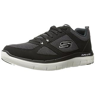 Skechers Herren Low-Top Sneakers Dual Light, Schwarz (Black/White), 46