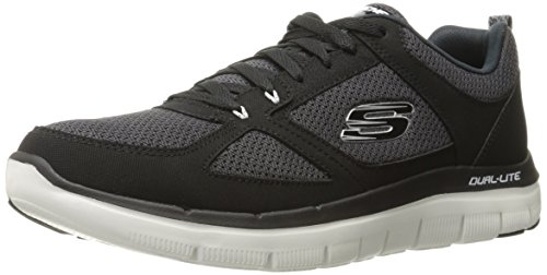 Skechers Men's Flex Advantage 2.0 Multisport Outdoor Shoes, Black (bkw), 11 UK