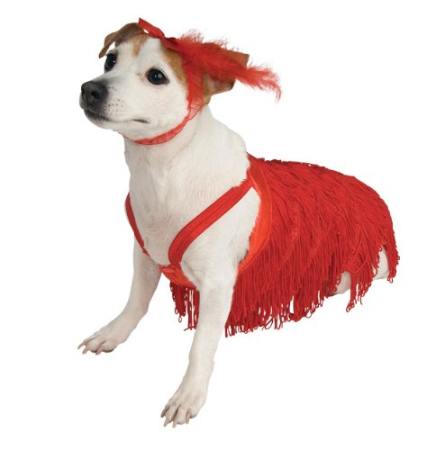 Rubies 20's Red Flapper Pet Costume (Red Kostüm Flapper)