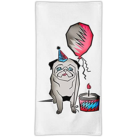 Hot Dog Asciugamano in microfibra MicroFiber Towel W/ Custom Printed Designs| Eco-Friendly Material| Machine Washable| 50x100 cm | Premium Bathroom Supplies By 50x100 cm Hamerson