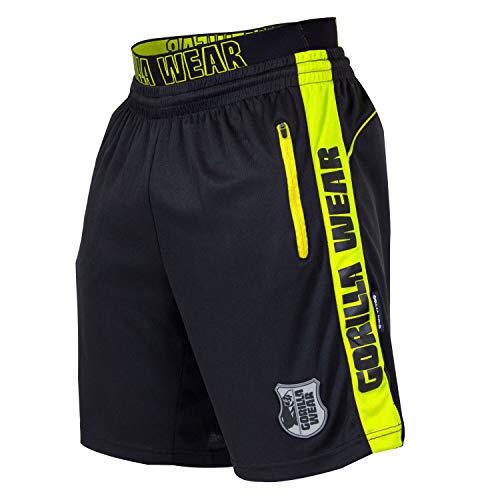 Gorilla Wear Shelby Shorts - Black/Neon Lime, L