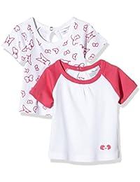 Twins Baby - Mädchen T-Shirt Blümchen im 2er Pack