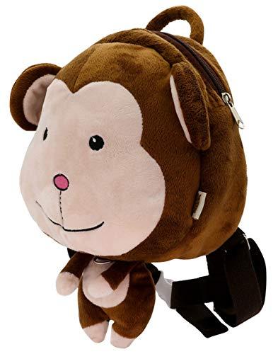 (DEMU Kinderrucksack 3D Cartoon Unisex Schultasche Kindergarten Snack Spielzeug Daypack AFFE)