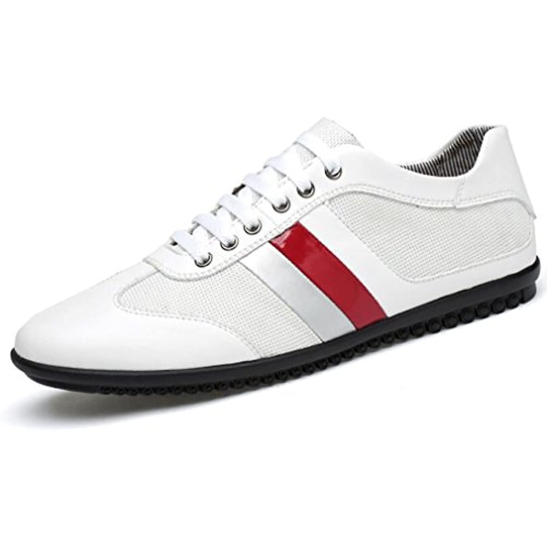 Hemei Scarpe Da Uomo/Sneakers Sportive Comfort Butunno/Pelle / Scarpe Sportive Uomo/Sneakers Traspiranti B Rete Casual/Nero Bianco,White,39 Parent 90e933