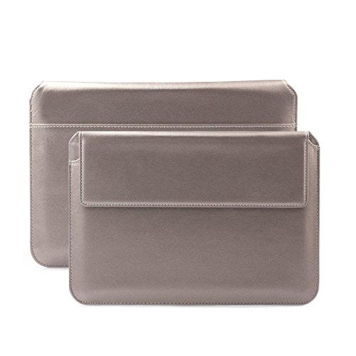 iCues Schutzhülle kompatibel mit Apple iPad Mini 4 Case | Samsung Galaxy Tab S2 8.0 Tasche | 6.9 bis 8.0 Zoll Tablet Piquante Etui Puppy Anthrazit | Sleeve Hülle Case Notebook Leder Schutz