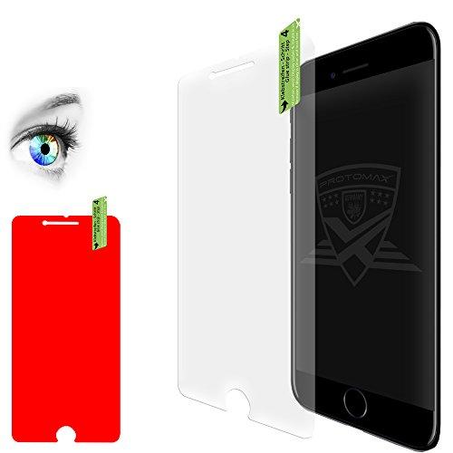 2 x PROTOMAX 9H Schutzglas für iPhone 7+ Plus, 9H Panzerglas Glasfolie, 2er Pack