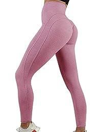 huateng Pantalones de Yoga para Mujeres Control de la Panza Ejercicios para  Correr Leggings para Correr 608a3d46a86a8