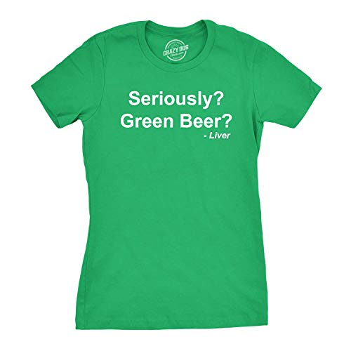 Green-day-bedruckte T-shirts (Womens Seriously Green Beer T Shirt Funny Saint Patricks Day Drinking Tee)