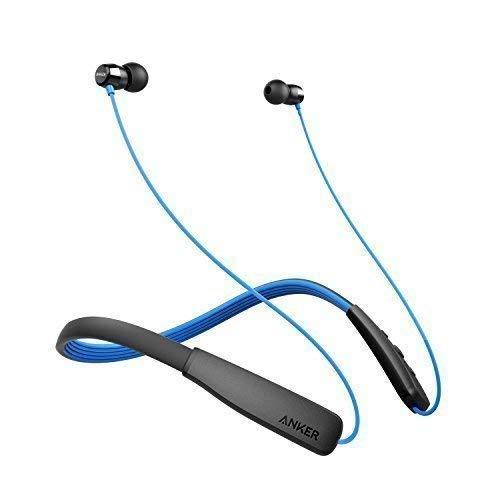 Anker SoundBuds Lite Bluetooth Kopfhörer, Leichtes Nackenband Headset, IPX5 Wasserfestes Sport In-Ear-Headset mit Geräuschreduzierung und In-Line Mikrofon (Blau)