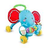 Baby Walker Erste Schritte Walker Trolley Spielzeug Musik Sounds Aktivität Push Puzzle Elefant Form Entlang Walker für Kinder Kinder Kleinkind