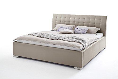 sette notti Polsterbett Bett 140×200 cm Muddy, Bett mit XXL Kopfteil, Boxspringbett-Optik, Kunstleder Bett Liegefläche 140 x 200 cm, ISA C Art Nr. 297-10-30000