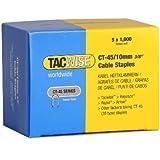 Tacwise 0352 Boîte de 5000 Agrafes pour câble CT-45/10 mm Blanc