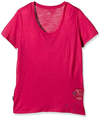 Icebreaker Damen Funktionsshirt Spector Short Sleeve Scoop Rising Sun