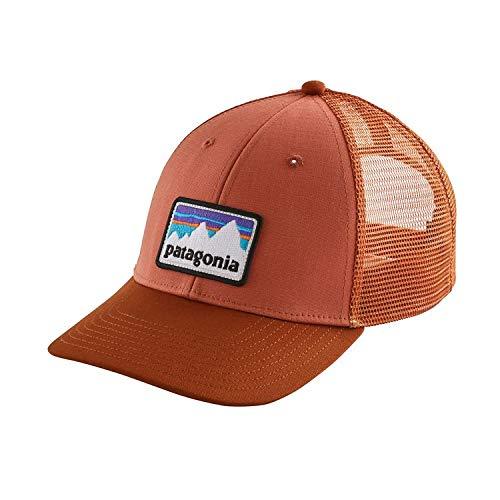 Patagonia Shop Sticker Patch LoPro Trucker Cap Fischerei, Herren Einheitsgröße Koralle (Quartz Coral)