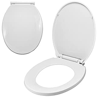 Luxury Comfort Oval Toilet SEAT Heavy Duty Soft Close White - Easy Installation
