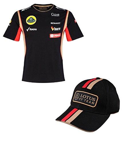 TEAM LOTUS T camisa & Cap Fórmula Uno 1 Lotus F1 Team pedevesa patrocinador 20145, hombre, negro