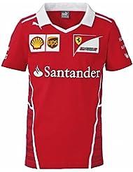 Oficial Ferrari F1 2017 niños equipo camiseta – rojo, 9-10 yrs 140cm