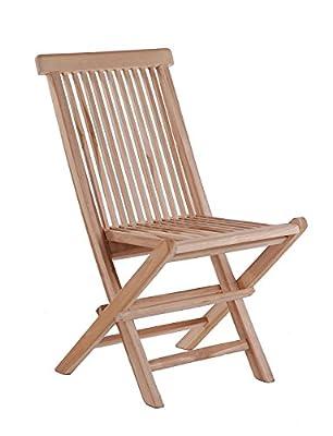 SAM® Sparset: 2 x Teak-Holz Klappstuhl, Gartenstuhl Menorca, zusammenklappbarer Hochlehner aus Massivholz, leicht zu Verstauen, ideal für Balkon, Terrasse oder Garten [53263248]