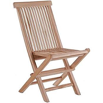 2er set klappstuhle teak gartenstuhle holz campingstuhle for Garten planen mit amazon sonnenschirm balkon