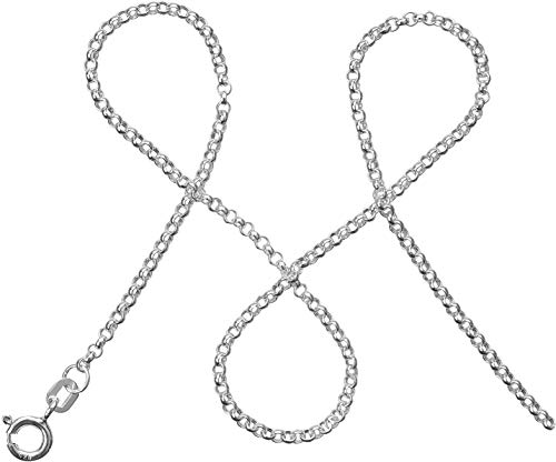 modabilé Damen Erbskette Tender 38cm Silber mit Etui I Halskette aus 925 Sterling Silber I Silberkette Ohne Anhänger I 2,0mm Breit I Made in Germany